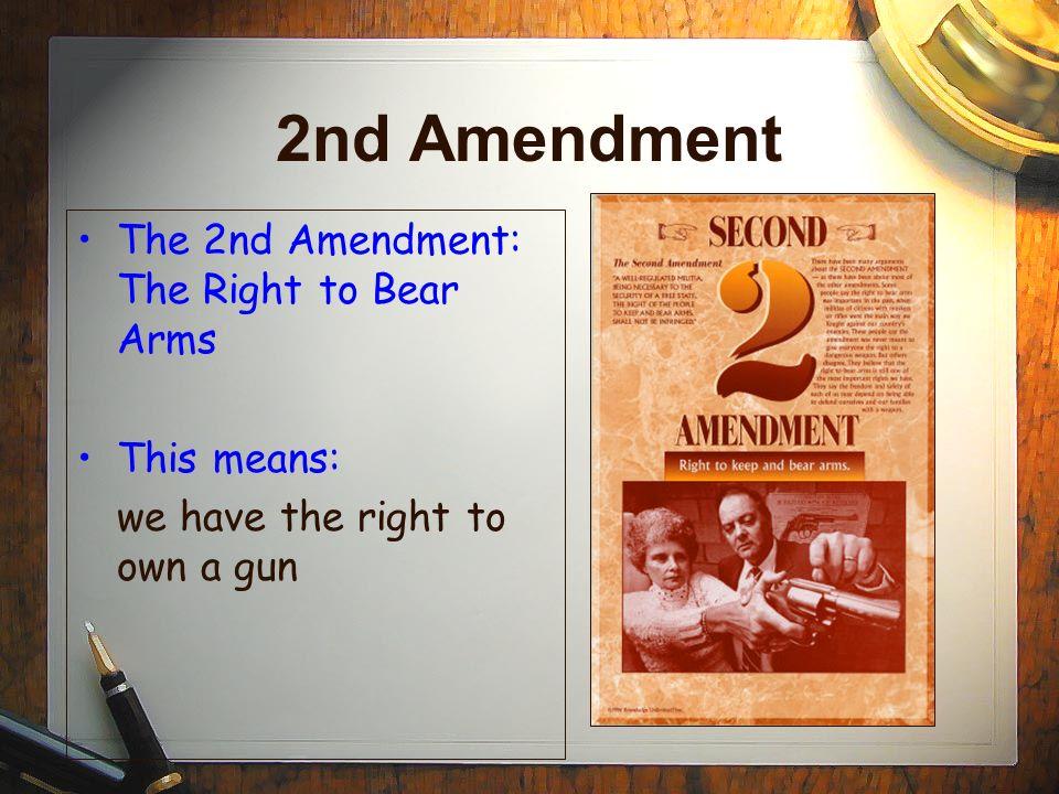 Second Amendment  Kids  Lawscom
