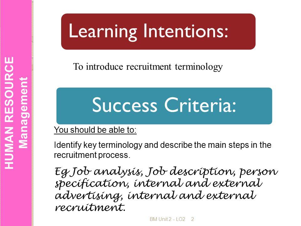 HUMAN RESOURCE Management RECRUITMENT AND SELECTION ppt download – Human Resource Management Job Description