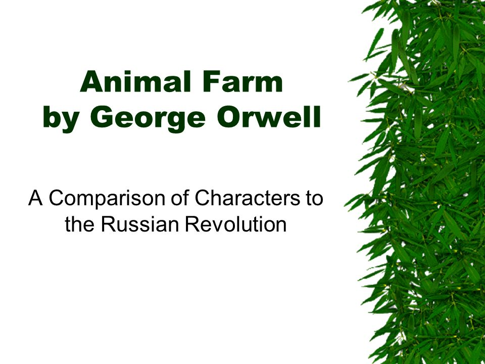 a comparison of ideas in animal farm by george orwell and the russian revolution How do i compare and contrast animal farm to the russian revolution a direct comparison for the and contrasted with animal farm by orwell.