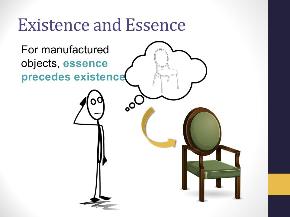 an analysis of the existence of precedes essence Sartre: existence precedes essence share this quote is from the conference existentialism is a humanism where sartre defines his views on existentialism.
