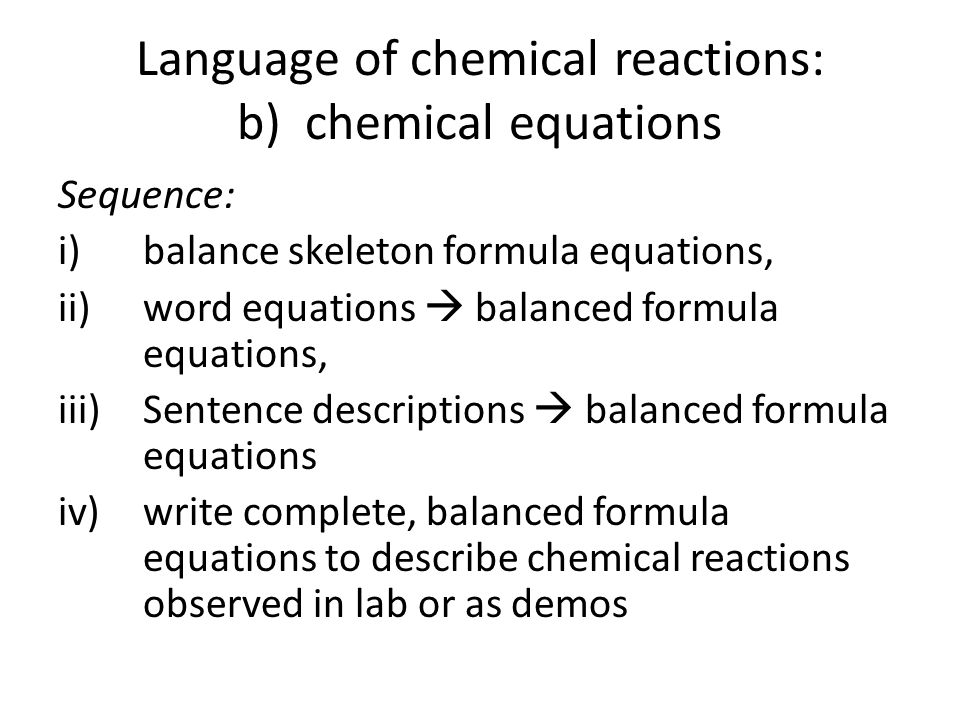 Writing Chemical Equations Worksheet – Word Equation Worksheet