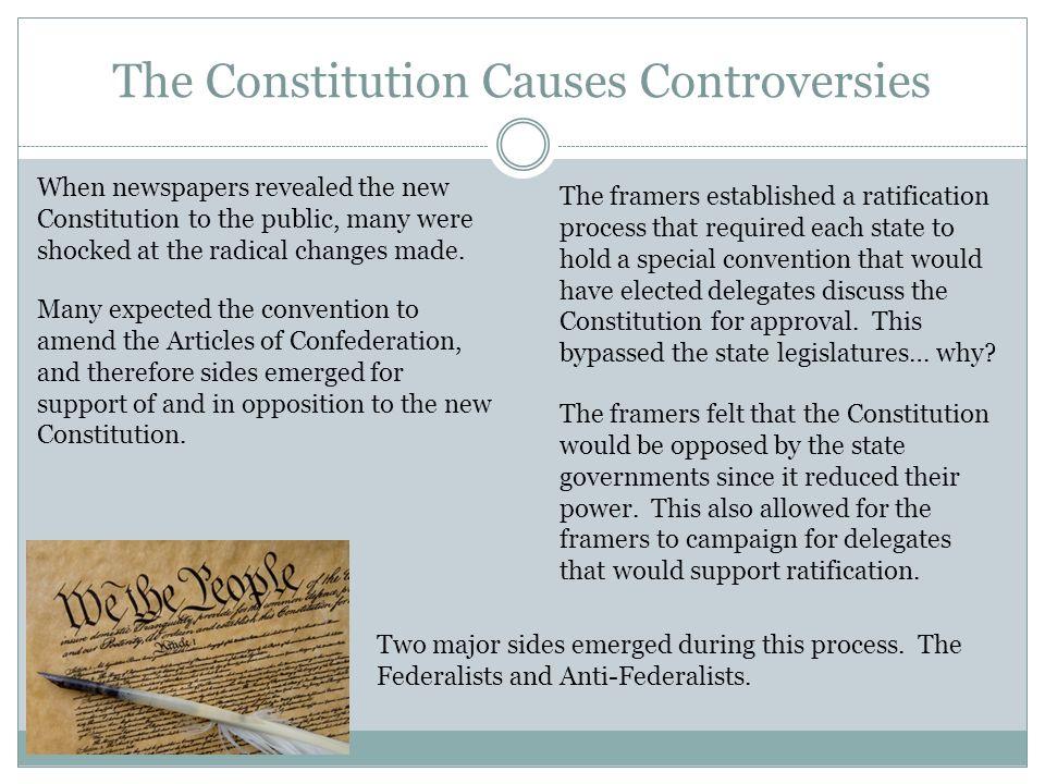 constitution controversy