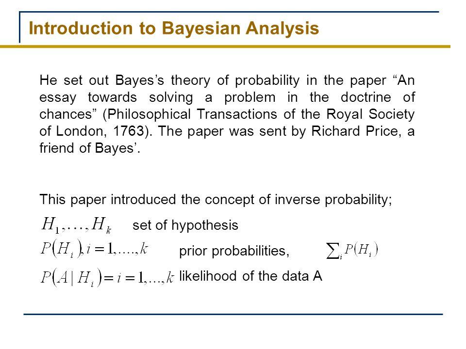 Prior posterior analysis essay