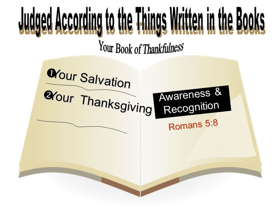  Your Salvation  Your Thanksgiving Awareness & Recognition Romans 5:8