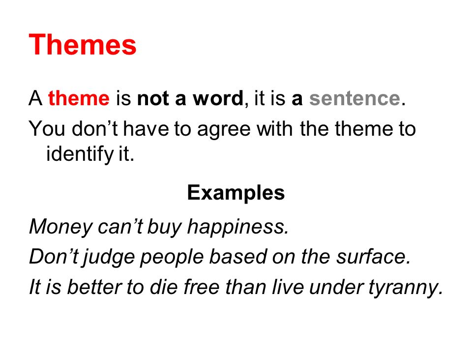 words for theme