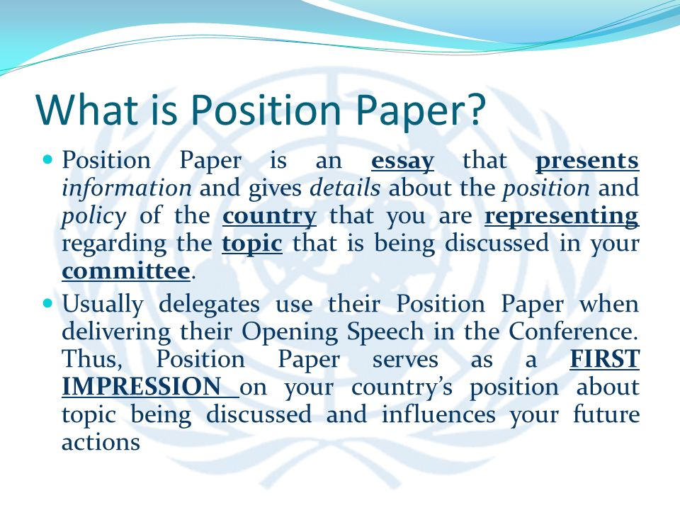 Presentation On Mun History Goals And Rules Of Procedure Ppt What Is Position  Paper Position Paper