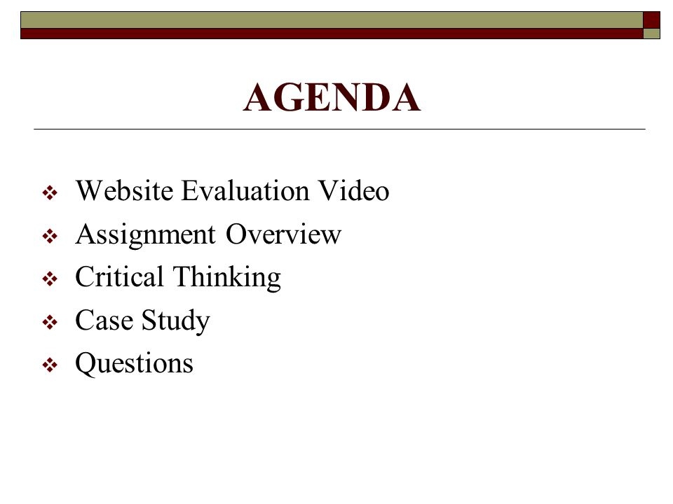 critical thinking website evaluation