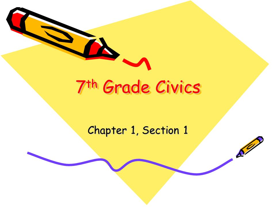 7 th Grade Civics Chapter 1, Section 1