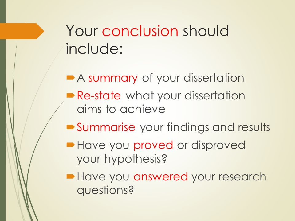 How To Write Conclusion In Dissertation