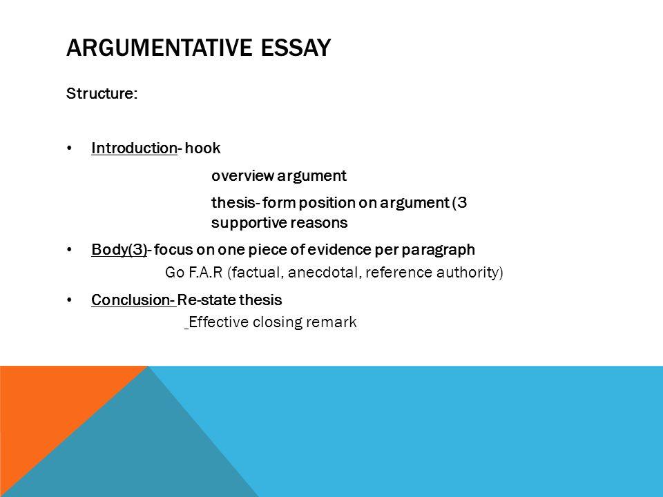 the argumentative essay structure Argumentative Essay Writing Tips: