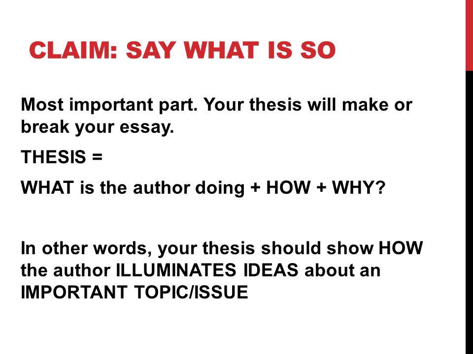 make a thesis
