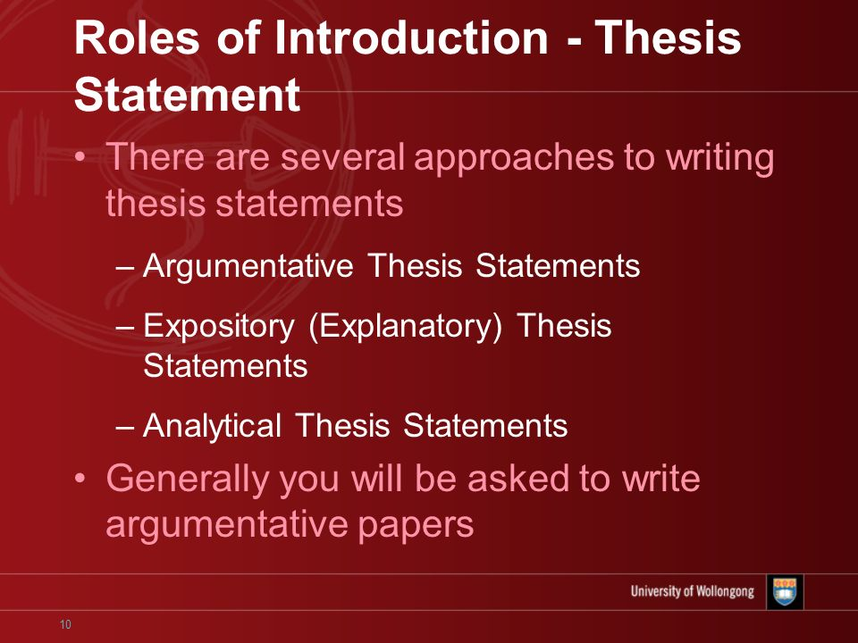 parts of an introduction in a thesis