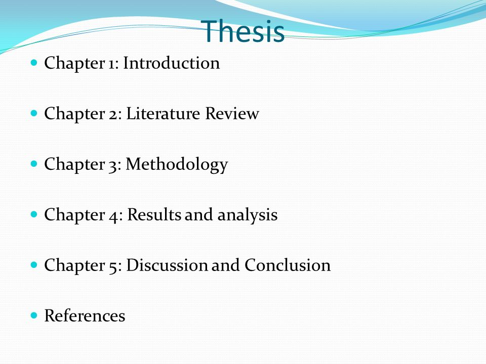Chapter introduction thesis