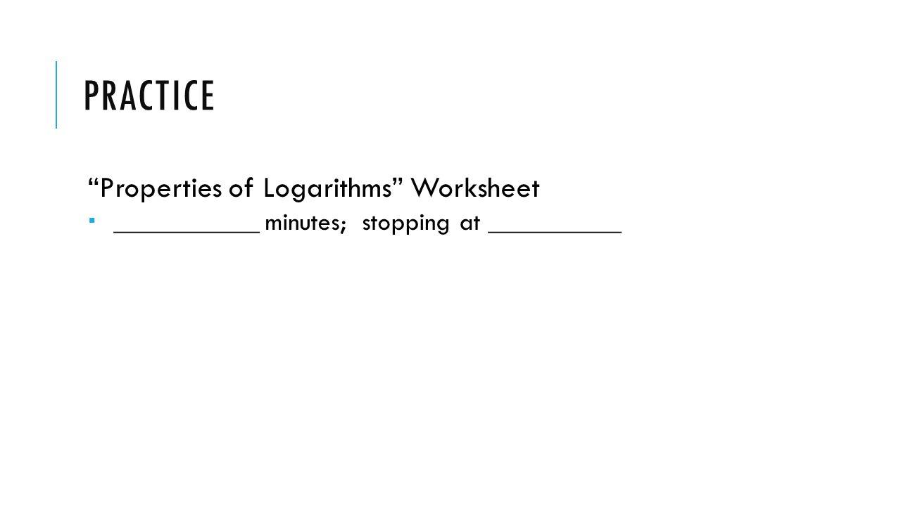 logarithms practice worksheet Worksheets for Kids Education – Logarithm Practice Worksheet