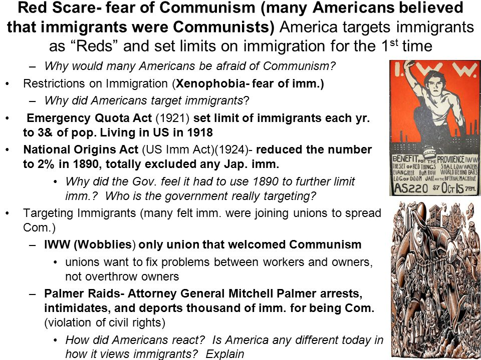 a history of the red scare a fear of the rise of communism