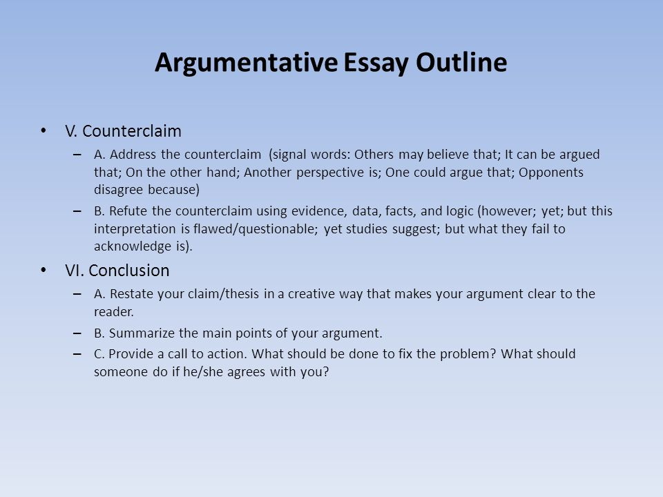 argumentative essay facts While working on your persuasive essay for college, take a look at the article below and learn how to use facts, statistics and examples properly.