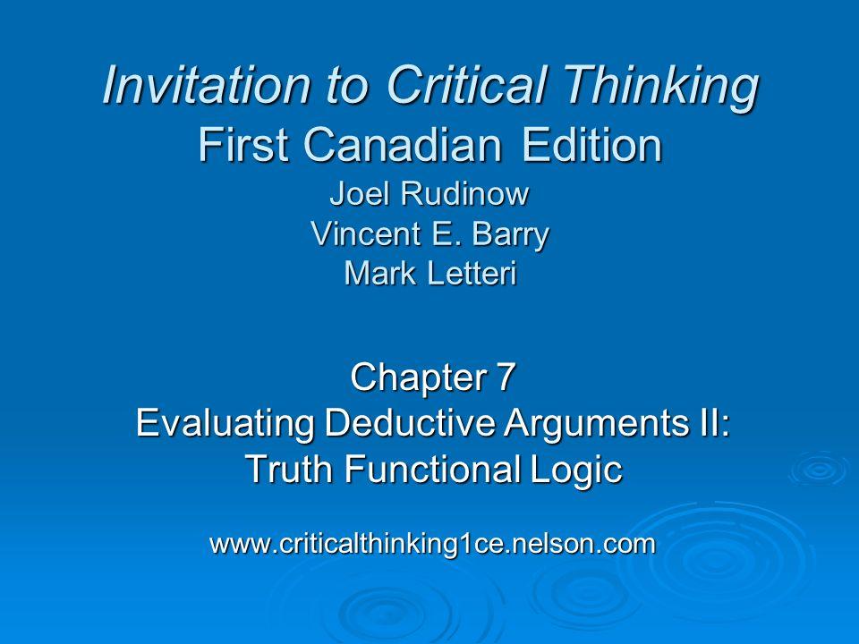 Critical Thinking Logic
