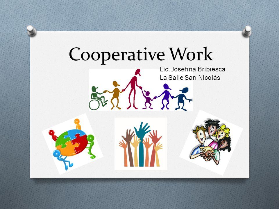 Cooperative Work Lic. Josefina Bribiesca La Salle San Nicolás