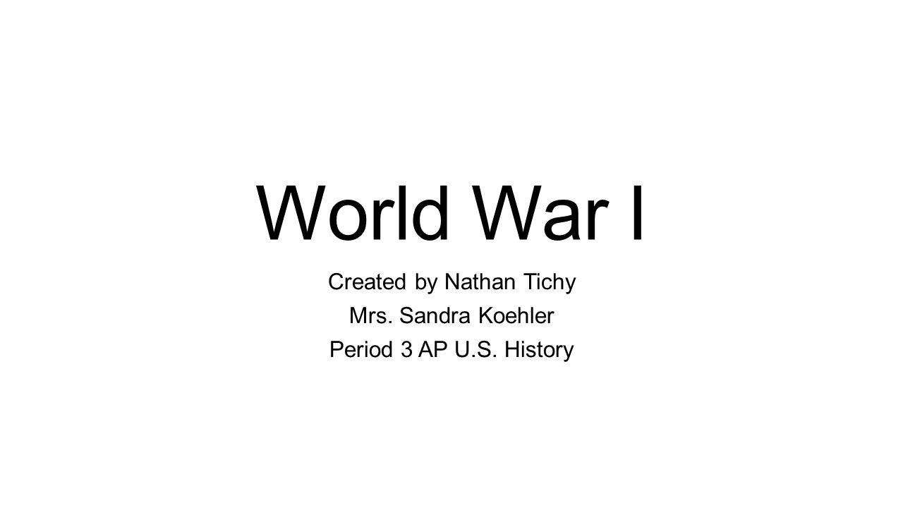 world war 1 key concepts