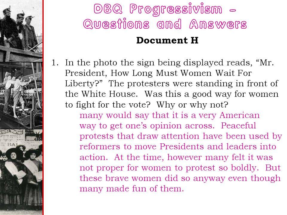 progressive essay