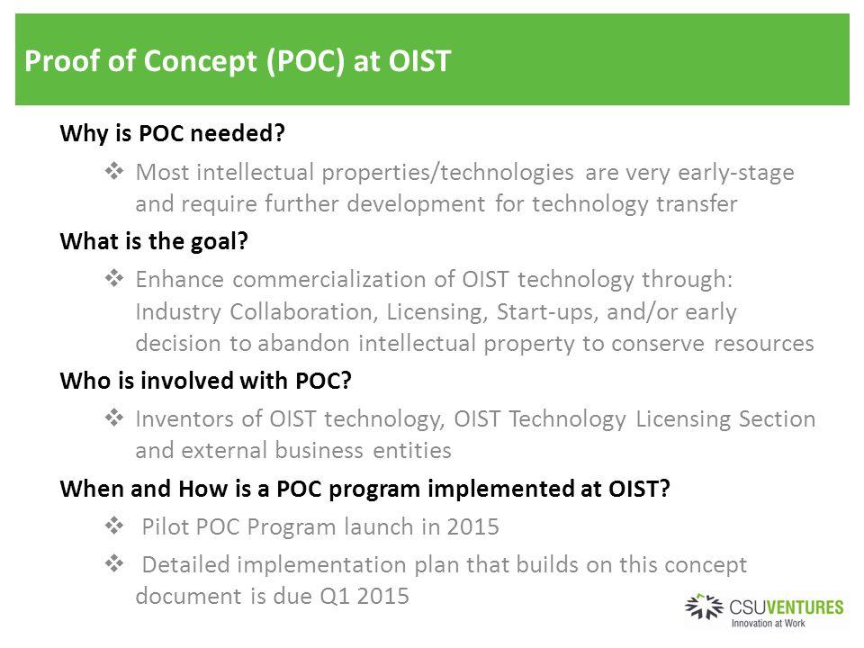 background regarding a proof-of-concept program for developmental, Presentation templates