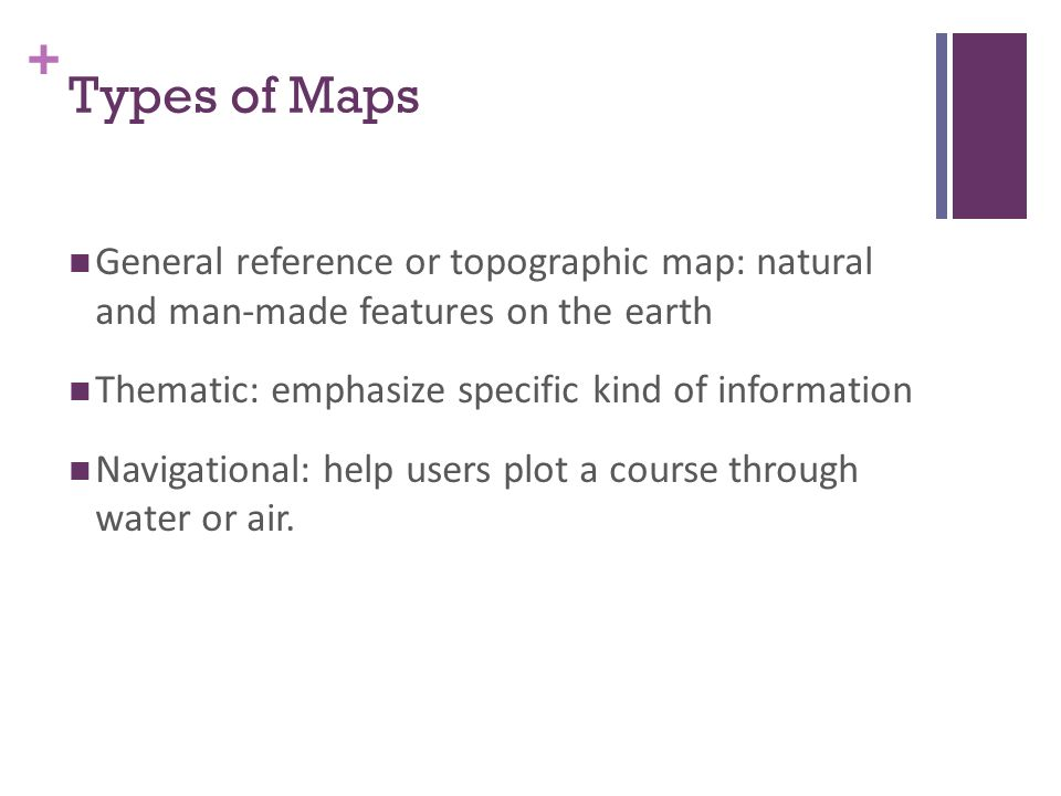 Maps projections ap human geography mrs lacks ppt download 7 types of maps general reference or topographic map natural and man made features on the earth thematic emphasize specific kind of information sciox Image collections