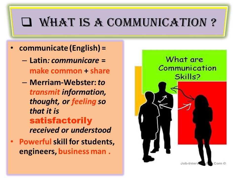 communications skills v
