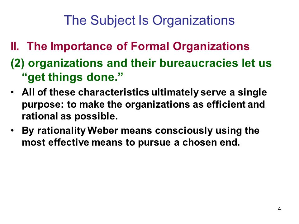 4 The Subject Is Organizations II.