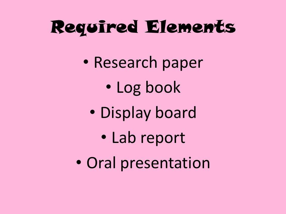 Dissertation Paper Elements