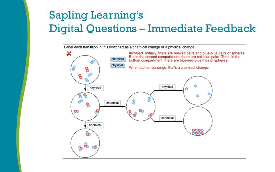 Sapling Learning's Digital Questions – Immediate Feedback