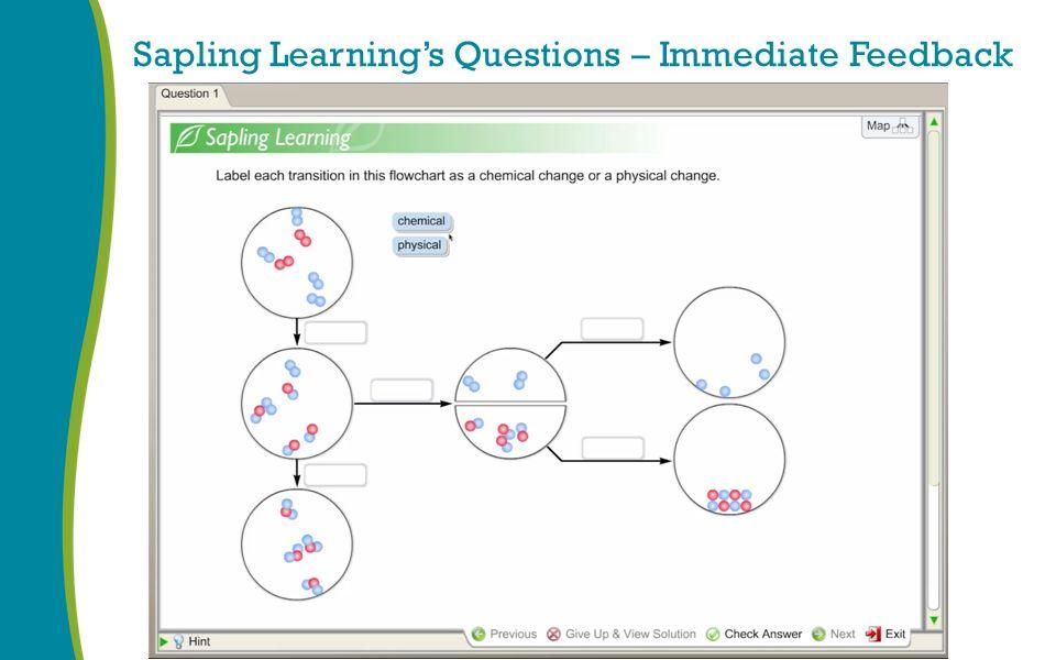 Sapling Learning's Questions – Immediate Feedback