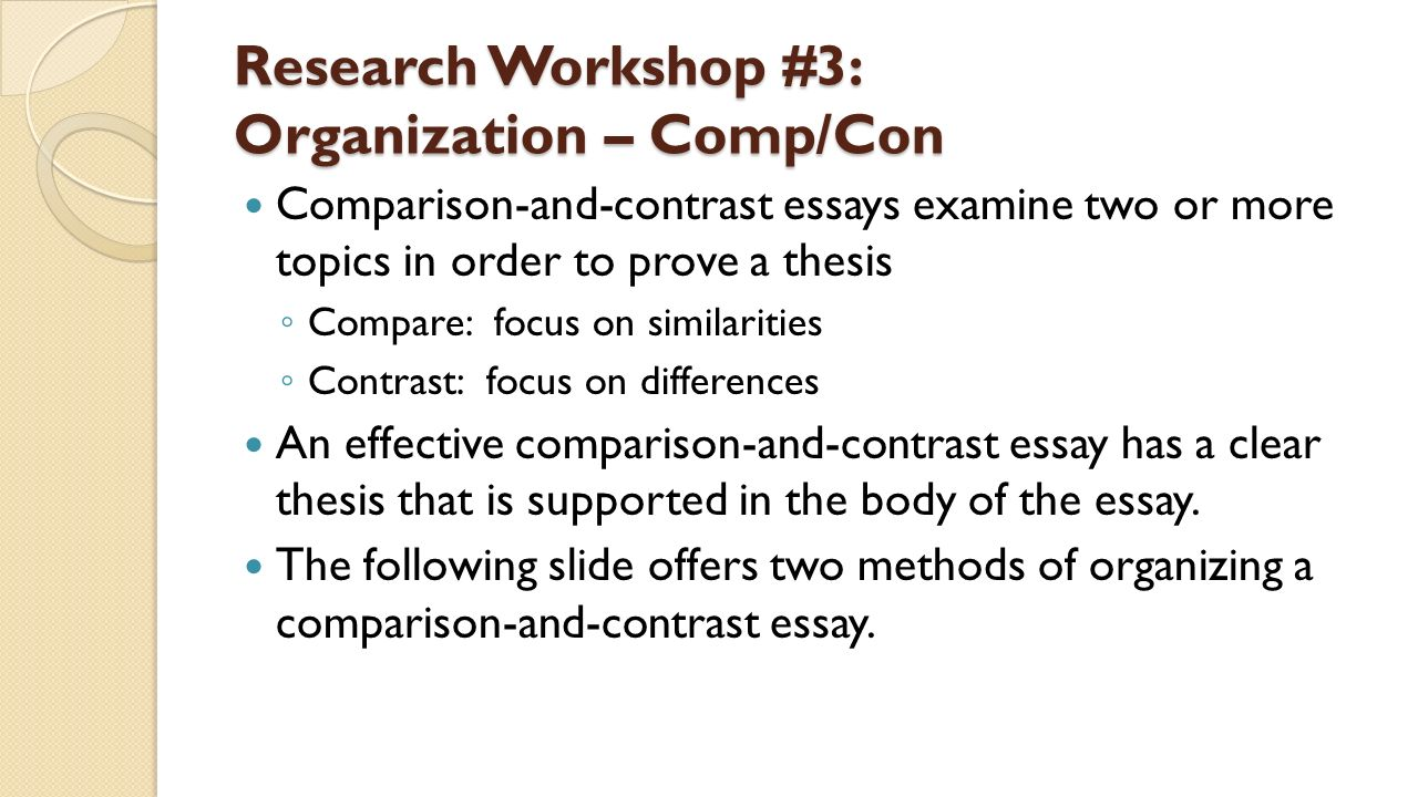 topics for compare contrast essays A compare-and-contrast essay might seem like the easiest type of paper to write: just find things that are alike and then find things that are different.