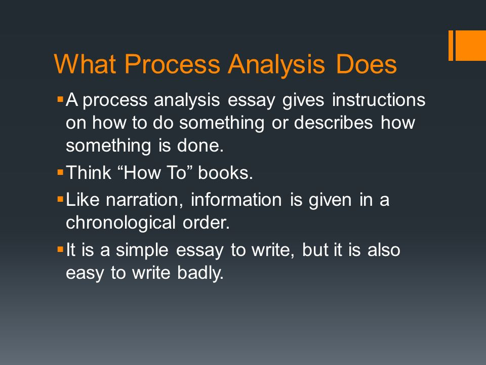 short process analysis essay An essay is a short universities set essays as the part of application process  other common essay types include literary and rhetorical analysis.