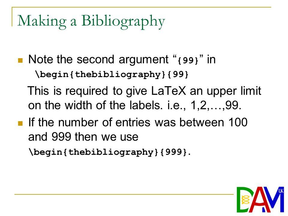 Making a bibliography