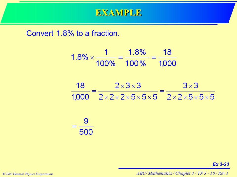 ABC/ Mathematics / Chapter 3 / TP / Rev 1 © 2003 General Physics ...