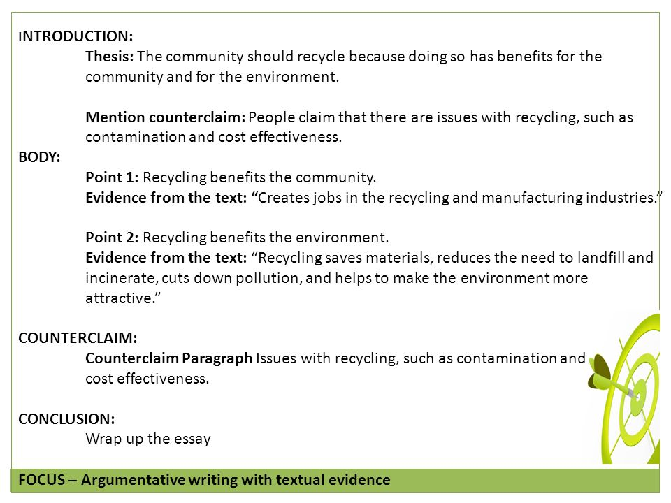 persusive essays on recycling
