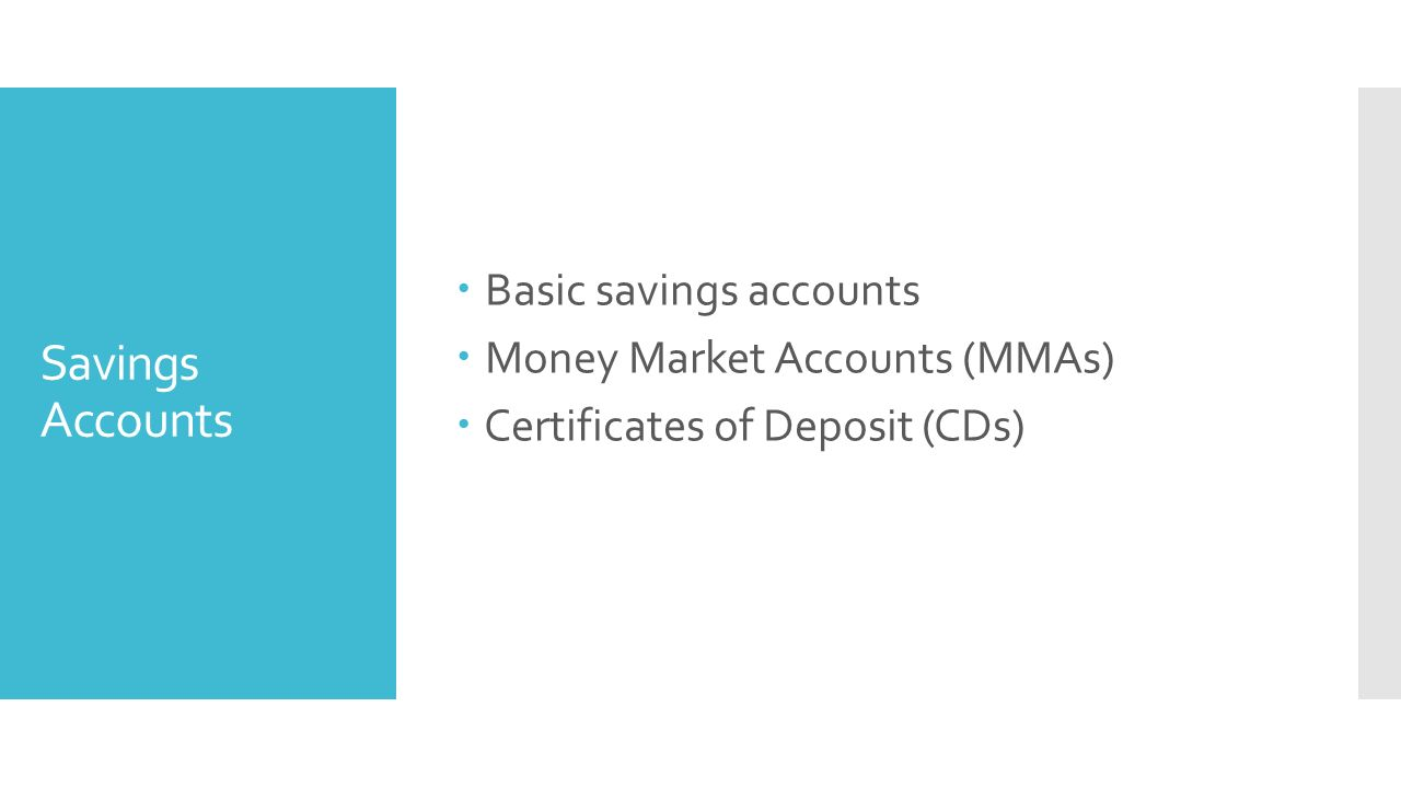 Advantages and disadvantages of investing when you put your money 3 savings accounts basic savings accounts money market accounts mmas certificates of deposit cds xflitez Images