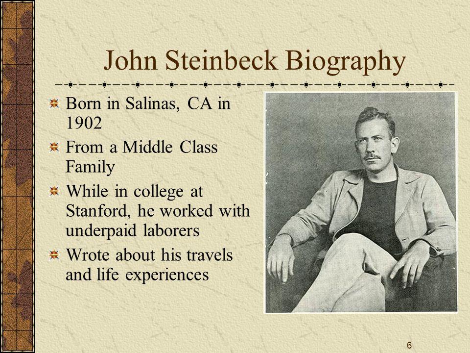 steinbeck biography