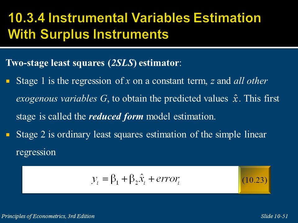 Endogenous Regressors and Instrumental Variables Estimation ...