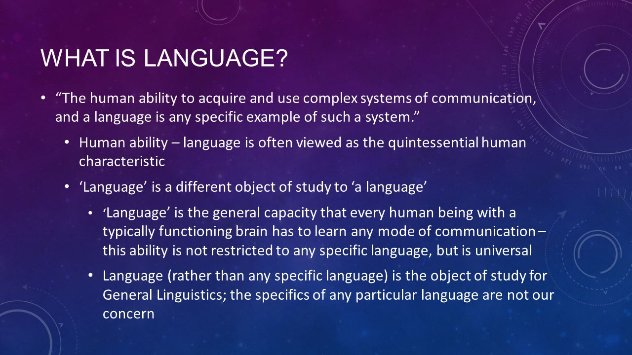 the influence of language and linguistic abilities on a human being Increasing the use of technology instead of face to face communication could have negative influence on the human formerly seven (linguistic the human being.
