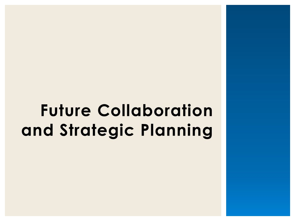 Future Collaboration and Strategic Planning