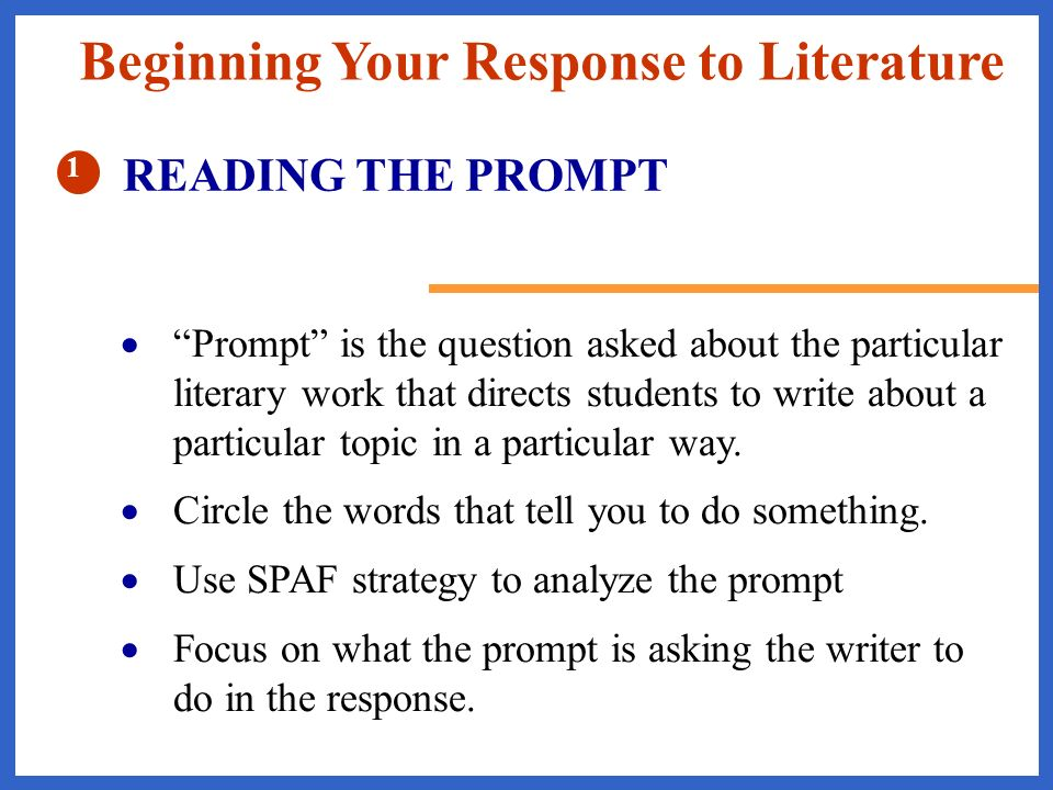 response to literature writing prompts Explain the mood the author creates in paragraph 7 in your response, use examples from the paragraph that show how the author creates this mood.