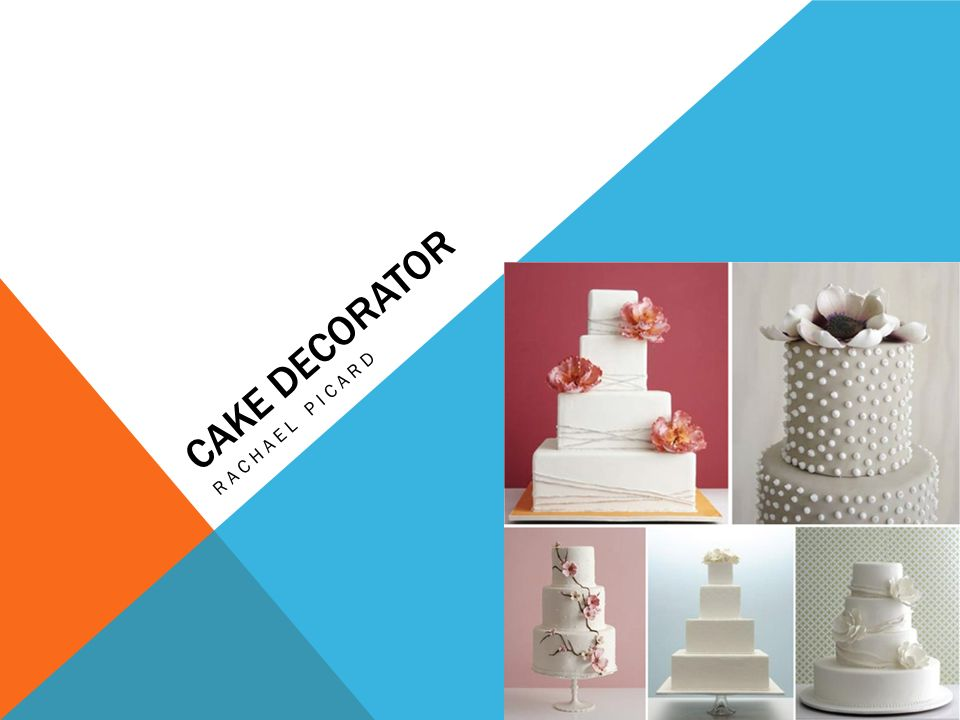 cake decorator rachael picard. cake decorating is both a