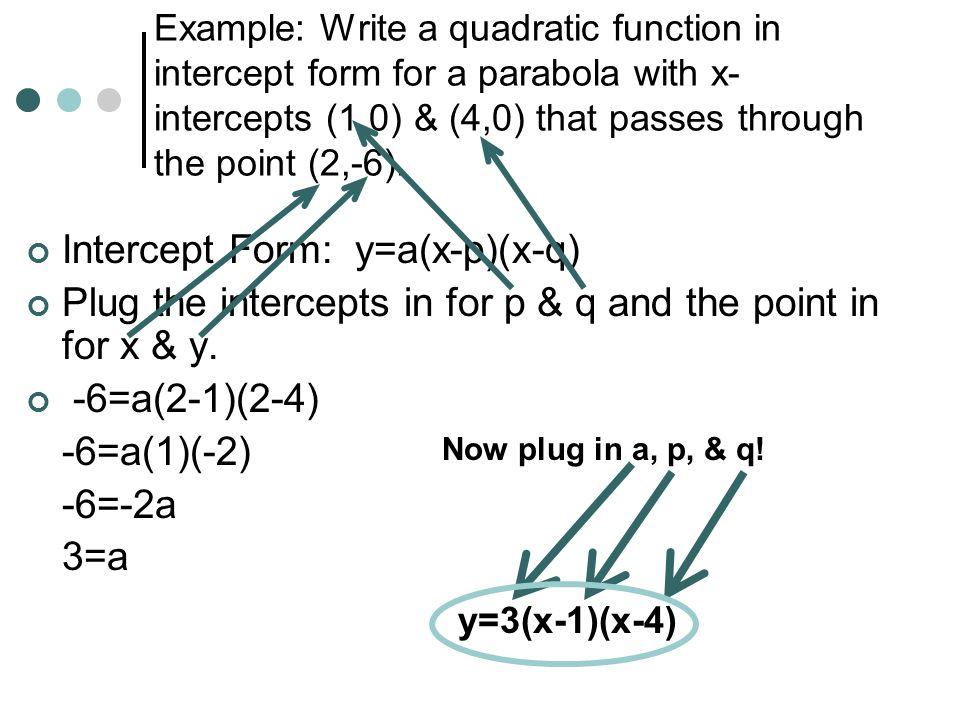 Warm Up. Solving Quadratic Inequalities Algebraically Write and ...