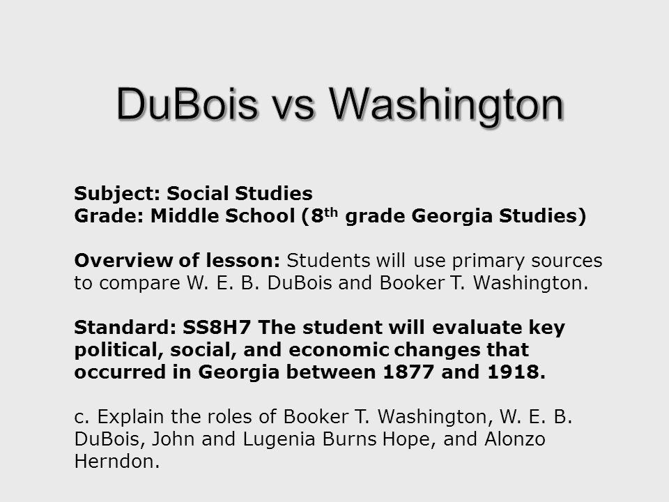 Venn Diagram Comparing Booker T Washington And Web Dubois Ukran