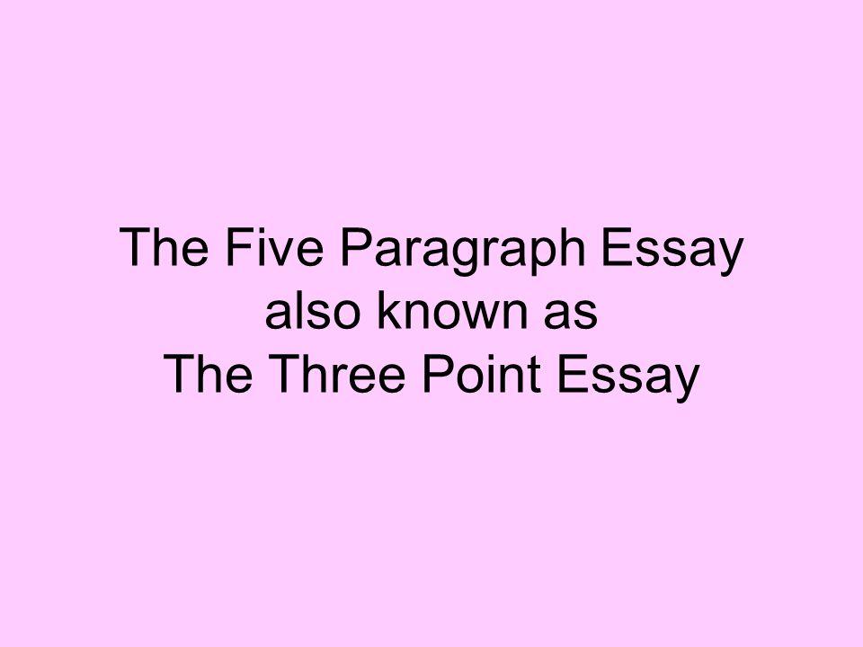 Three point essay
