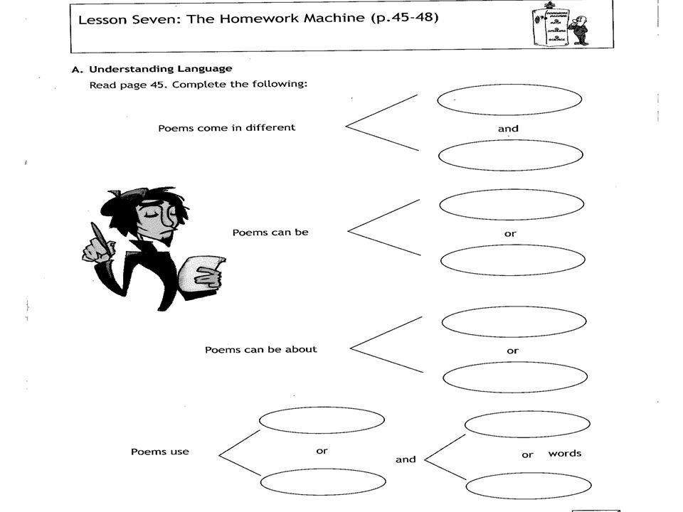 Homework machine shel silverstein