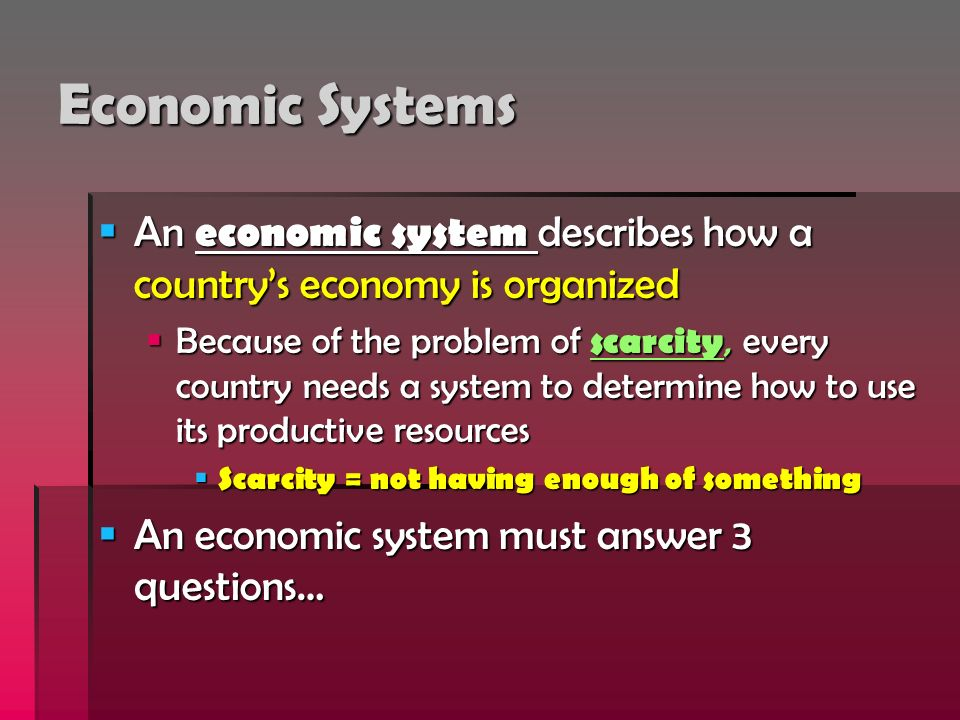 types economic systems essay