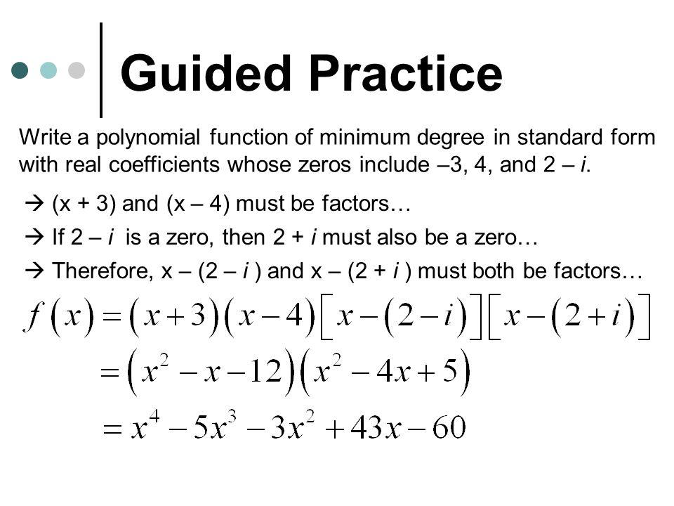 The Fundamental Theorem Of Algebra Its In Sec 26a Homework P