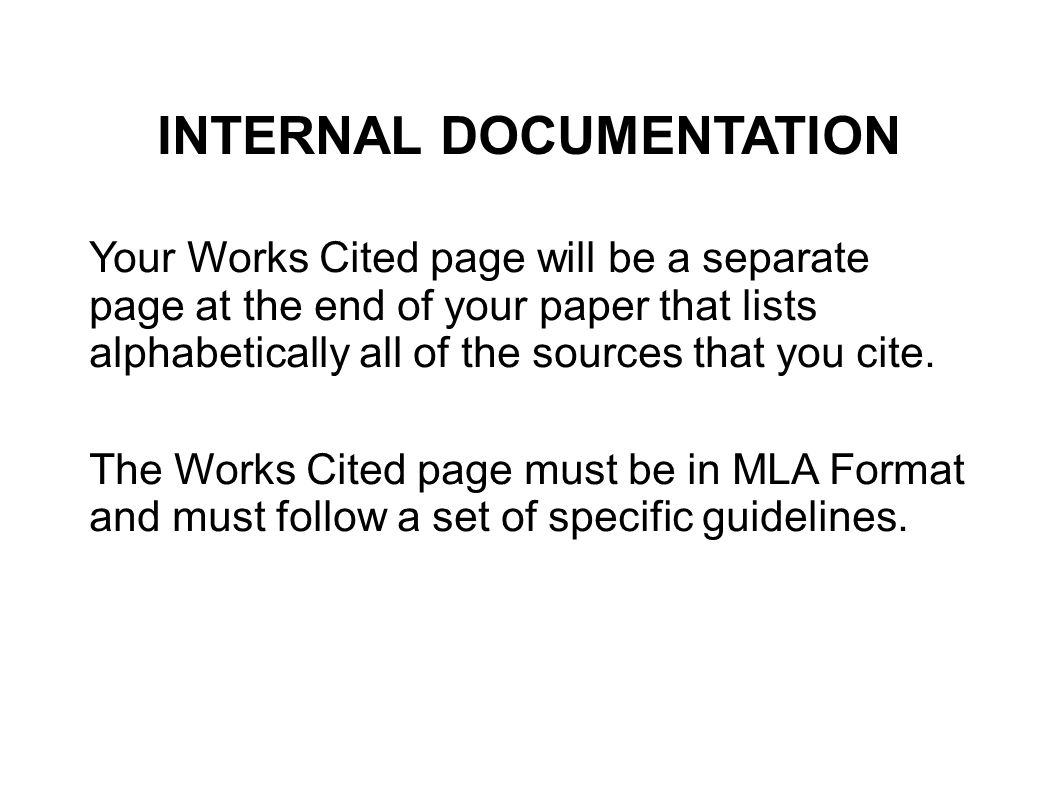 Must I Create a Separate Page for Works Cited?